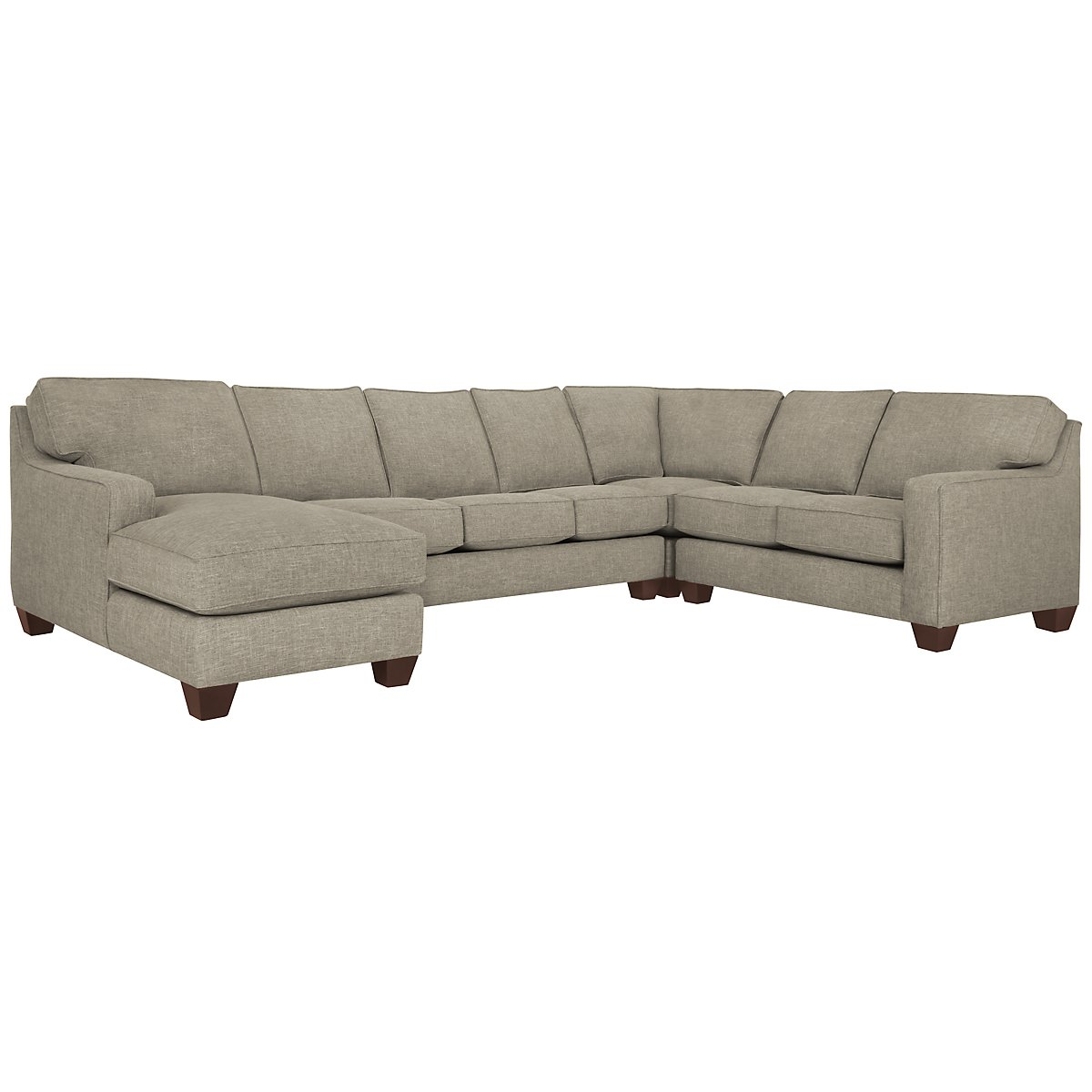 York Pewter Fabric Left Chaise Memory Foam Sleeper Sectional on chaise recliner chair, chaise sofa sleeper, chaise furniture,