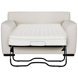 Austin White Fabric Innerspring Sleeper
