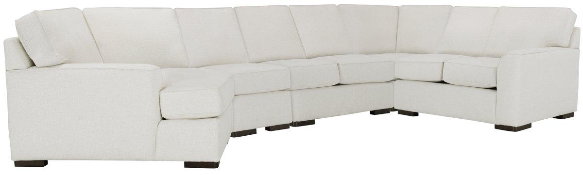Austin White Fabric Large Left Cuddler Sectional