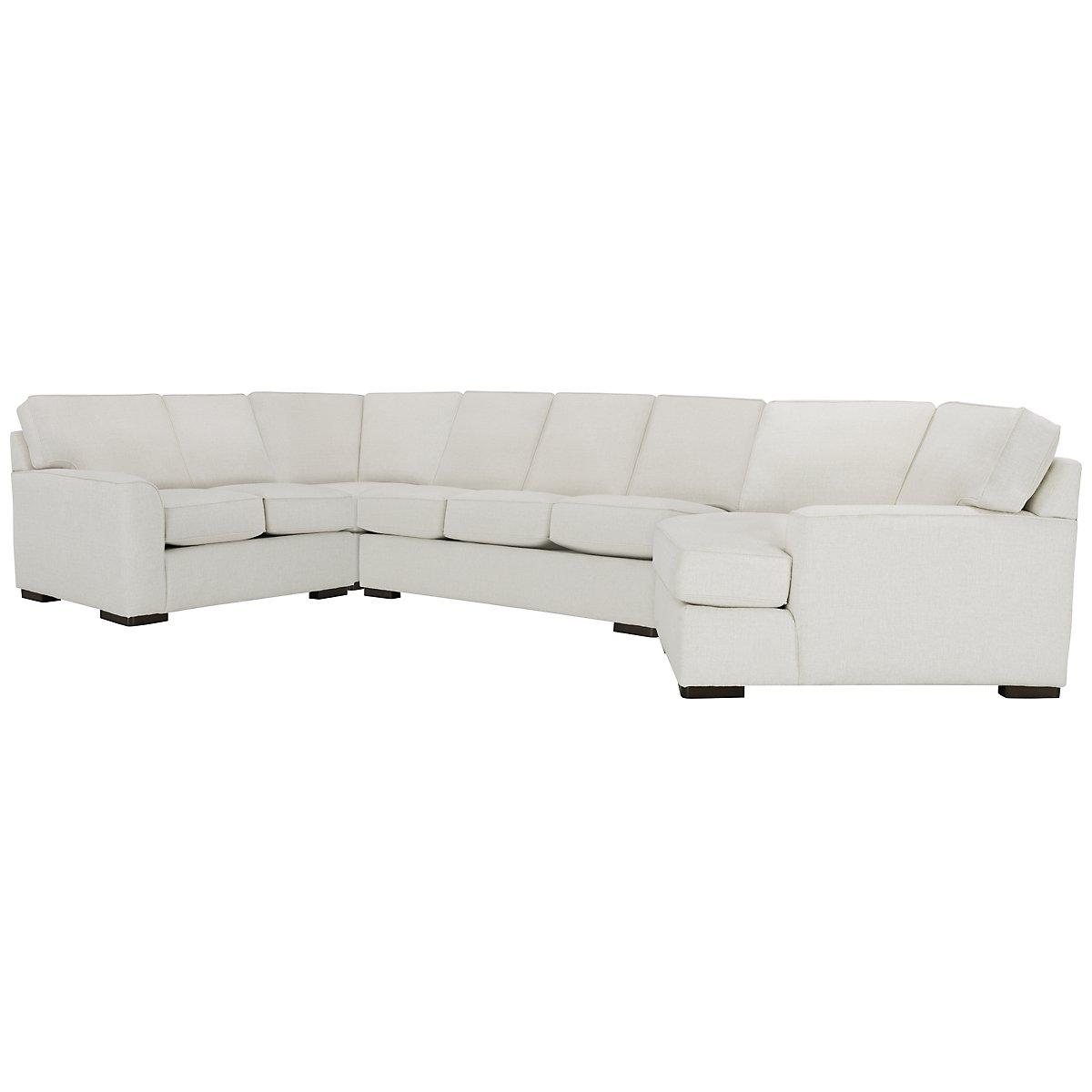 Austin White Fabric Right Cuddler Innerspring Sleeper Sectional