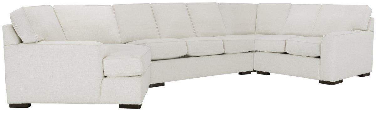 Austin White Fabric Left Cuddler Innerspring Sleeper Sectional