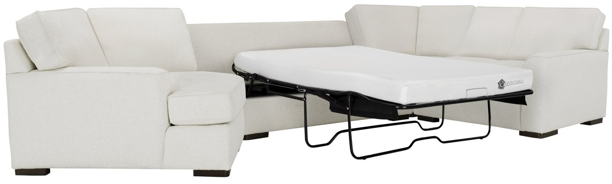 City Furniture Austin White Fabric Left Cuddler Memory