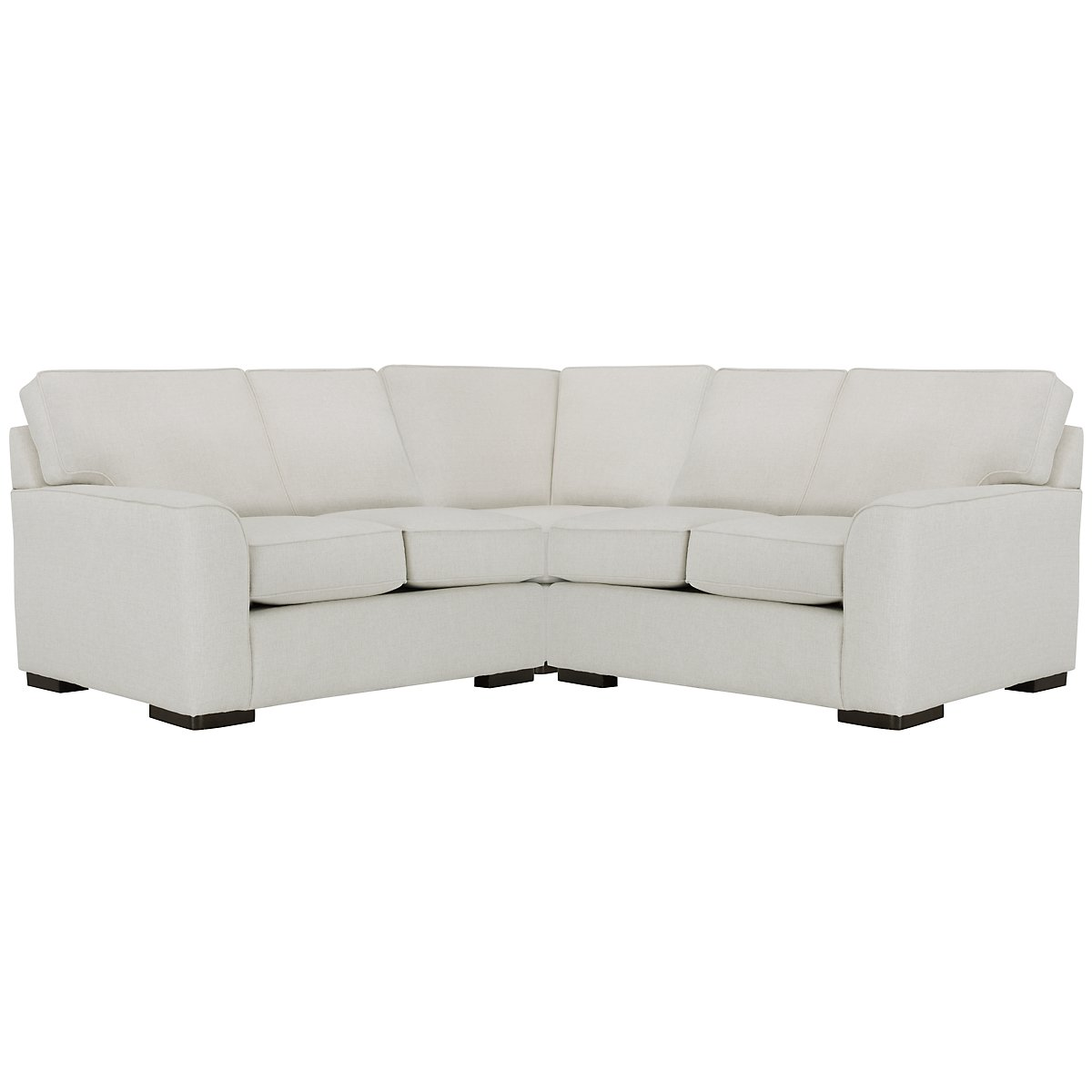 Austin White Fabric Small Two-Arm Sectional