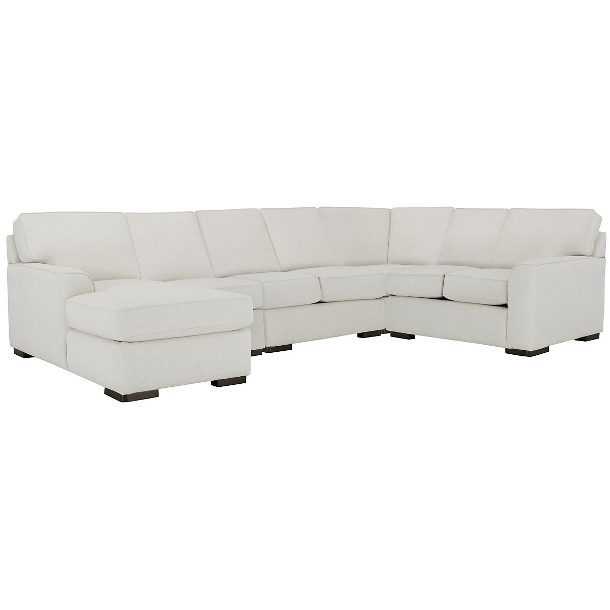 Austin White Fabric Large Left Chaise Sectional