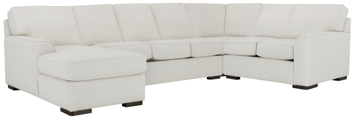 Austin White Fabric Left Chaise Innerspring Sleeper Sectional