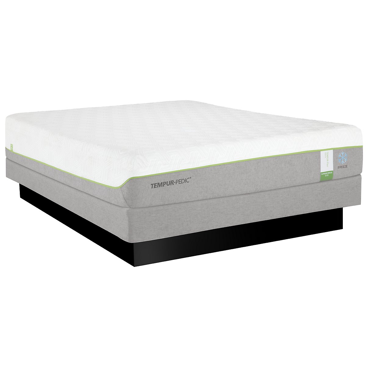 TEMPUR-Flex® Supreme Breeze Low-Profile Mattress Set