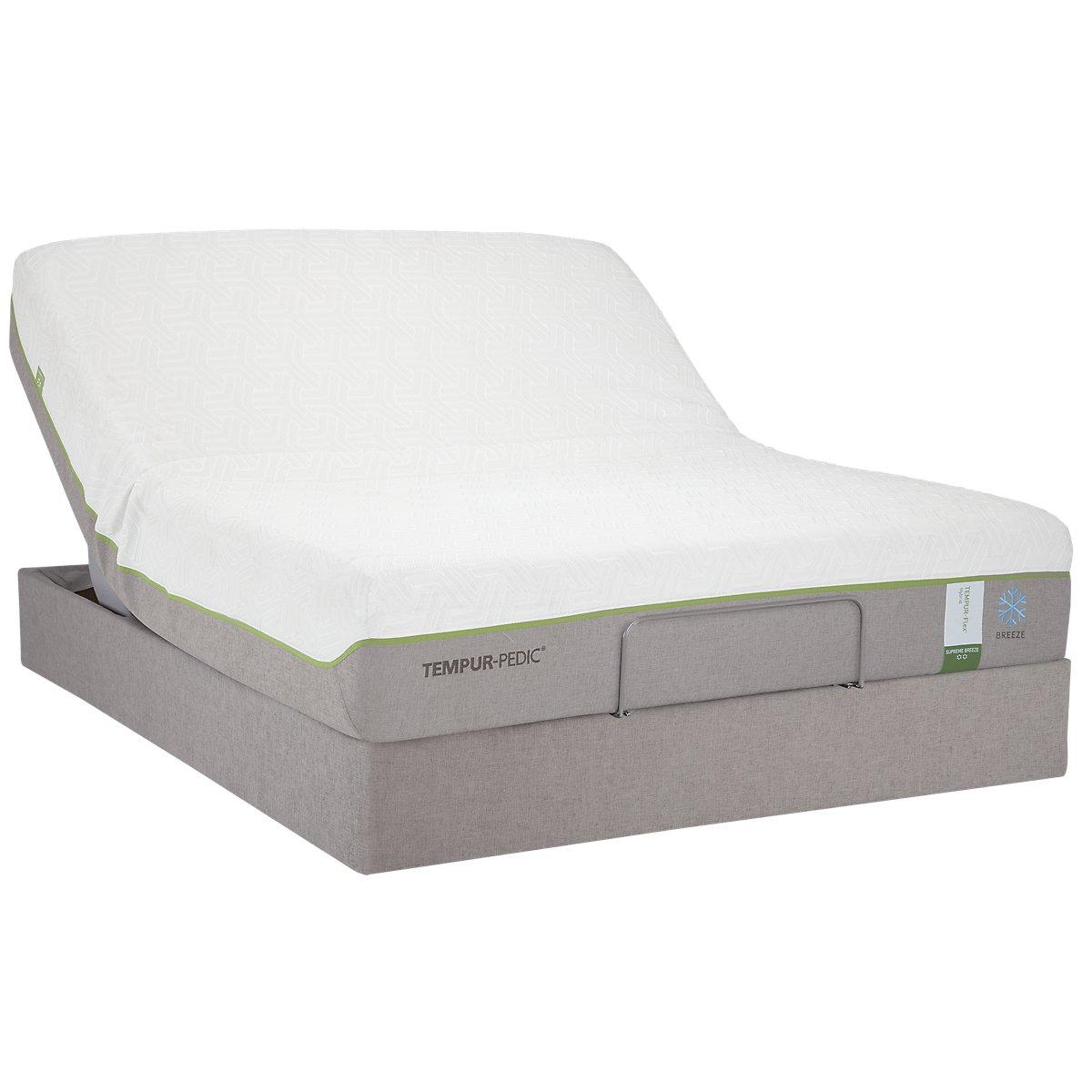 Adjustable Beds With Financing : City furniture flx sup bre tempur up adjustable mattress set