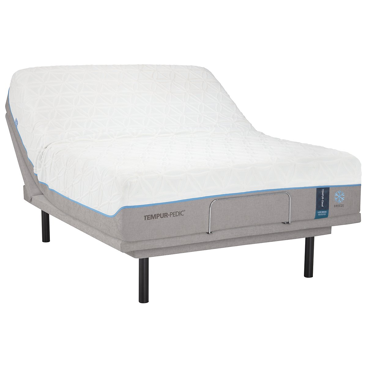 TEMPUR-Cloud® Luxe Breeze 2.0 TEMPUR-Ergo™ Plus Adjustable Mattress Set