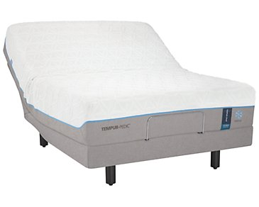 TEMPUR-Cloud® Luxe Breeze 2.0 TEMPUR-Ergo™ Premier Adjustable Mattress Set