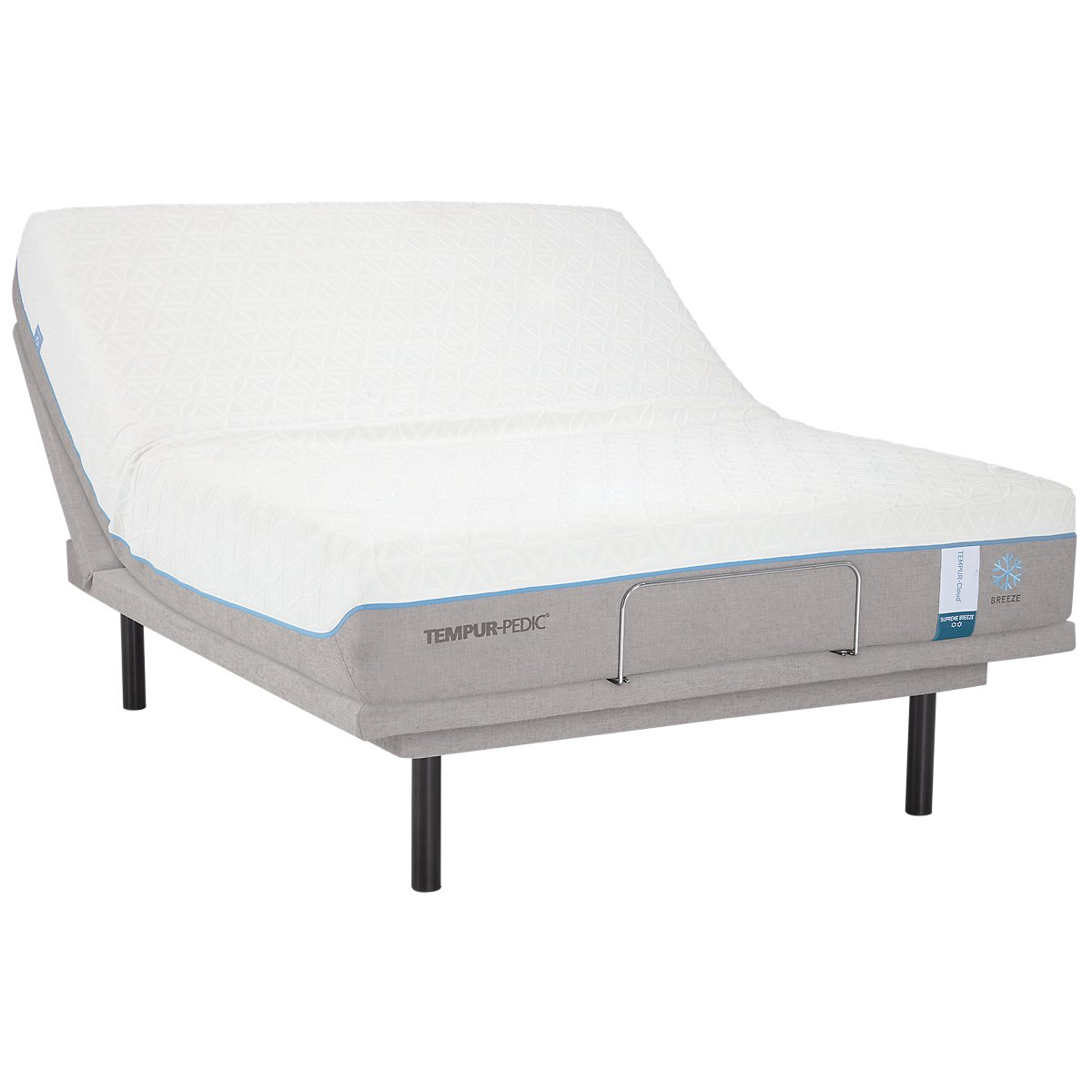 TEMPUR-Cloud® Supreme Breeze 2.0 TEMPUR-Ergo™ Plus Adjustable Mattress Set