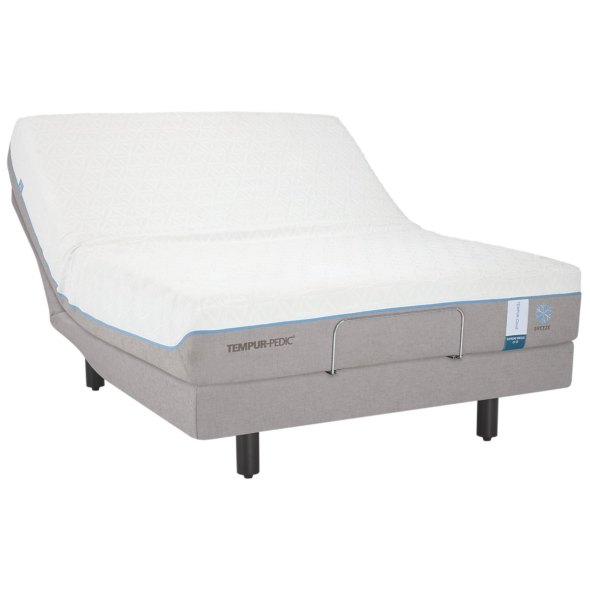 TEMPUR-Cloud® Supreme Breeze 2.0 TEMPUR-Ergo® X Adjustable Mattress Set