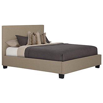 Madden Taupe Upholstered Platform Bed