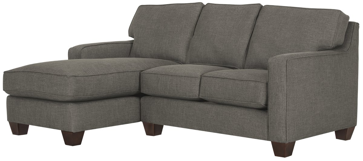 York Dark Gray Fabric Left Chaise Sectional