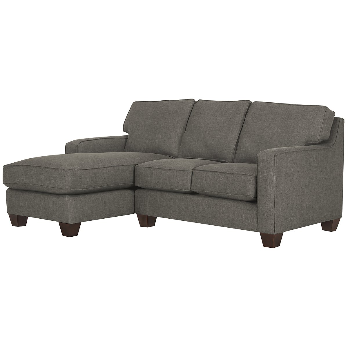 York Dark Gray Fabric Left Chaise Sectional