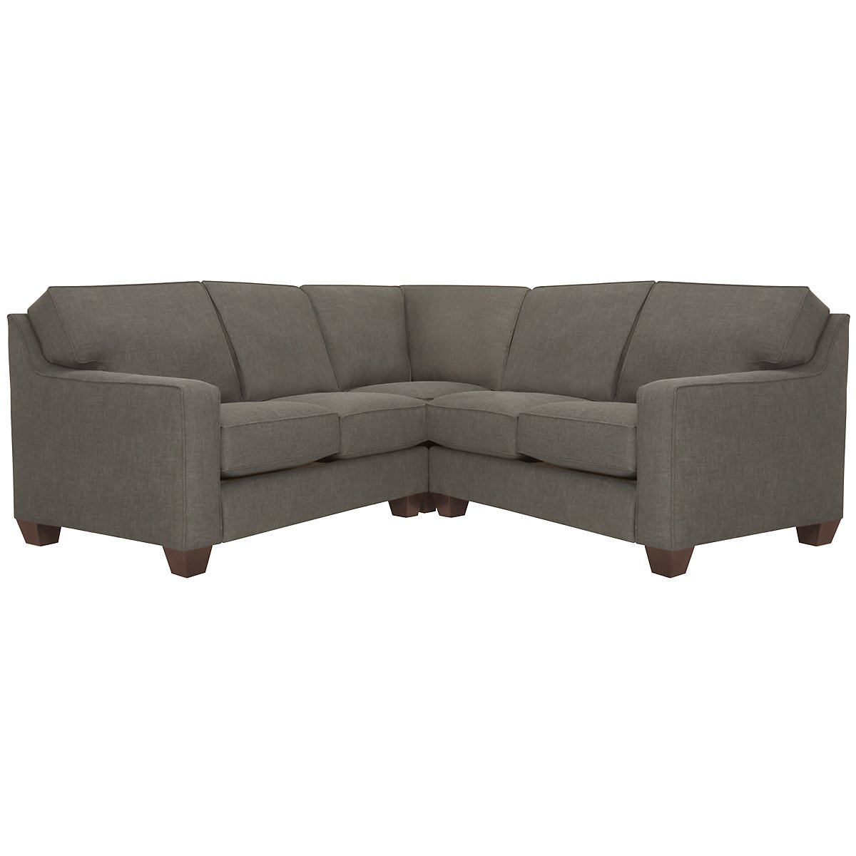 York Dark Gray Fabric Small Two-Arm Sectional
