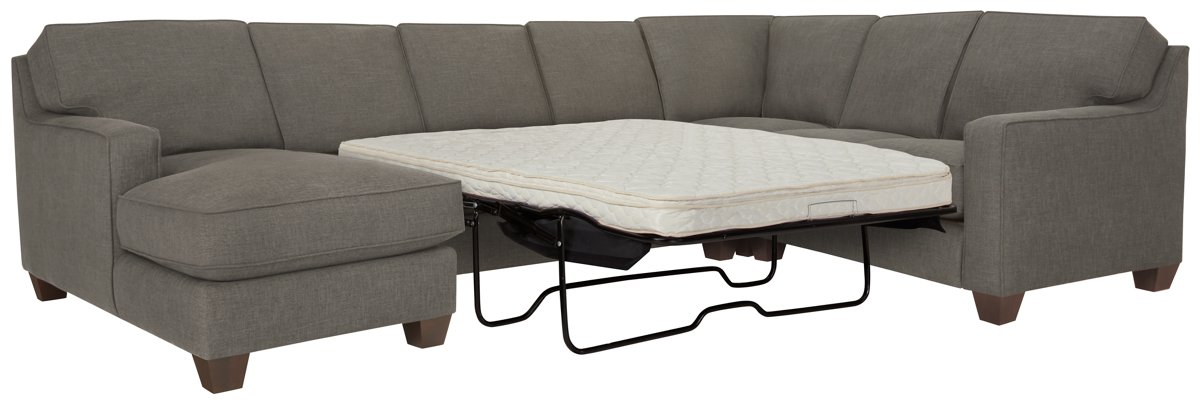 York Dark Gray Fabric Left Chaise Innerspring Sleeper Sectional