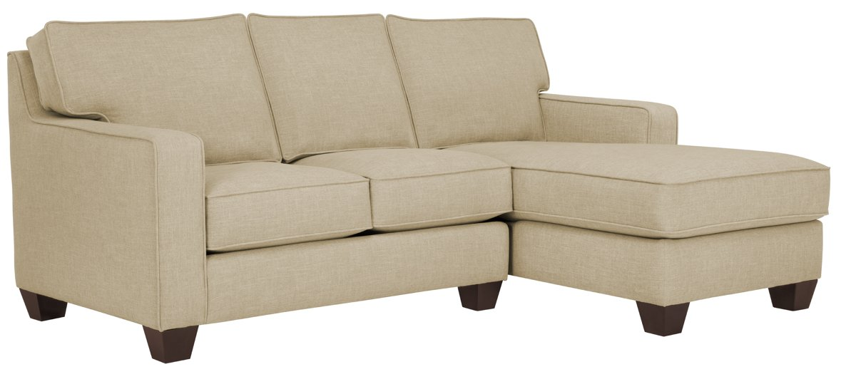 York Beige Fabric Right Chaise Sectional