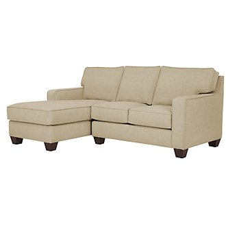 York Beige Fabric Left Chaise Sectional