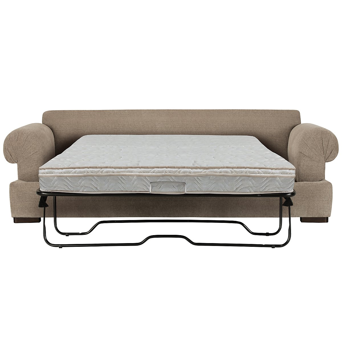 Belair Dark Taupe Fabric Innerspring Sleeper