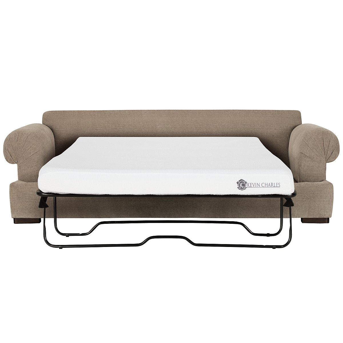 Belair Dark Taupe Fabric Memory Foam Sleeper