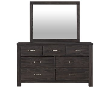 Highlands Dark Tone Dresser & Mirror