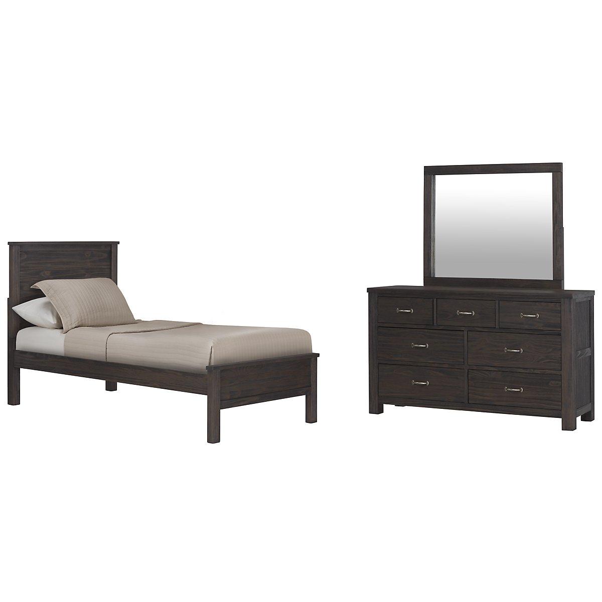 Highlands Dark Tone Panel Bedroom