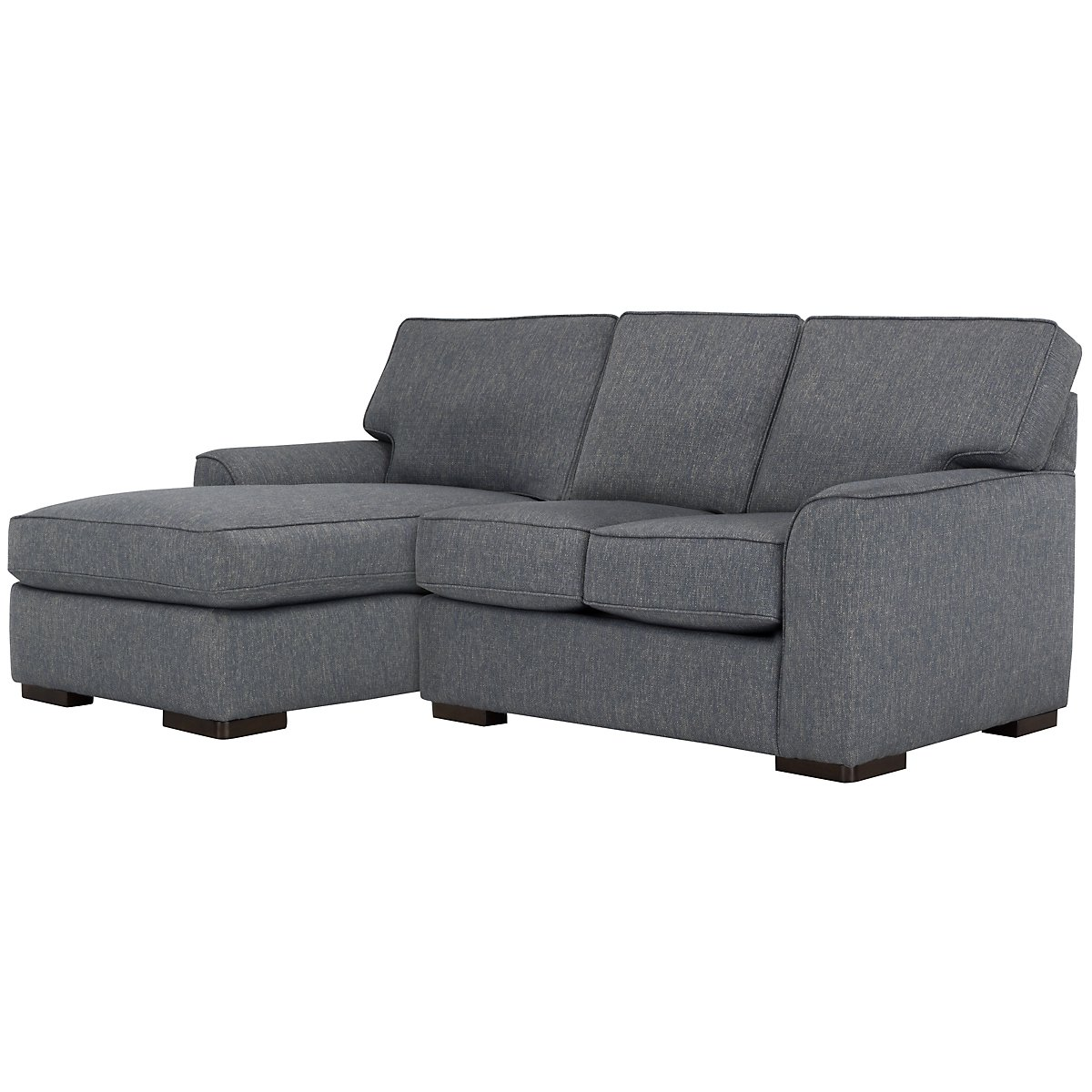 City furniture austin blue fabric left chaise sectional for Blue sectional sofa with chaise