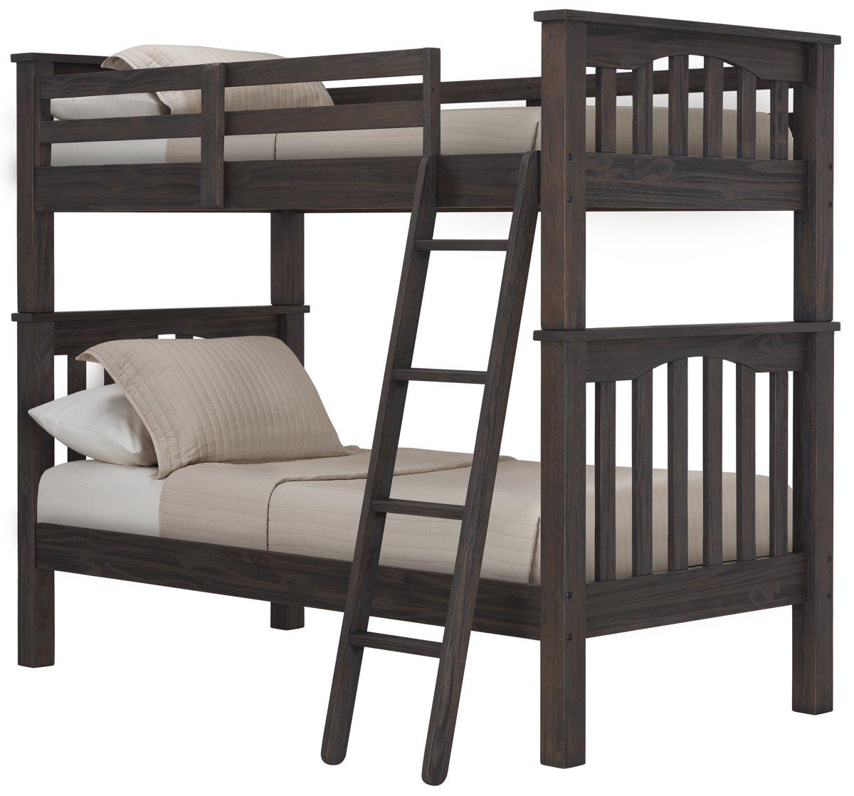 Highlands Dark Tone Wood Bunk Bed