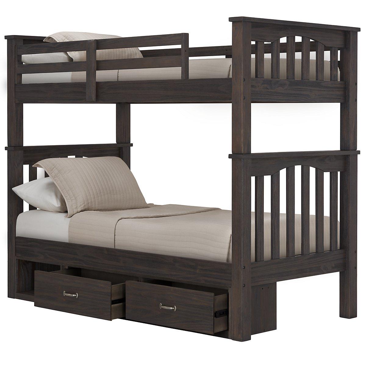 Highlands Dark Tone Storage Bunk Bed