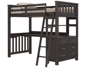 Highlands Dark Tone Loft Bed