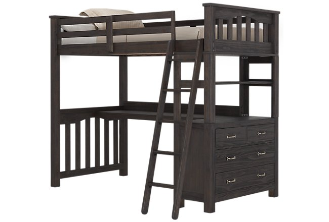 Highlands Dark Tone Wood Loft Bed