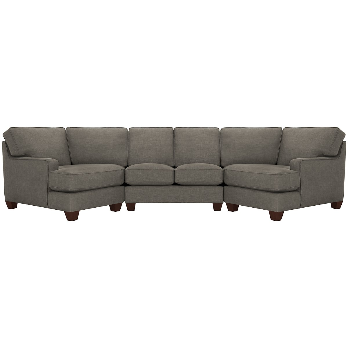 York Dark Gray Fabric Dual Cuddler Sectional