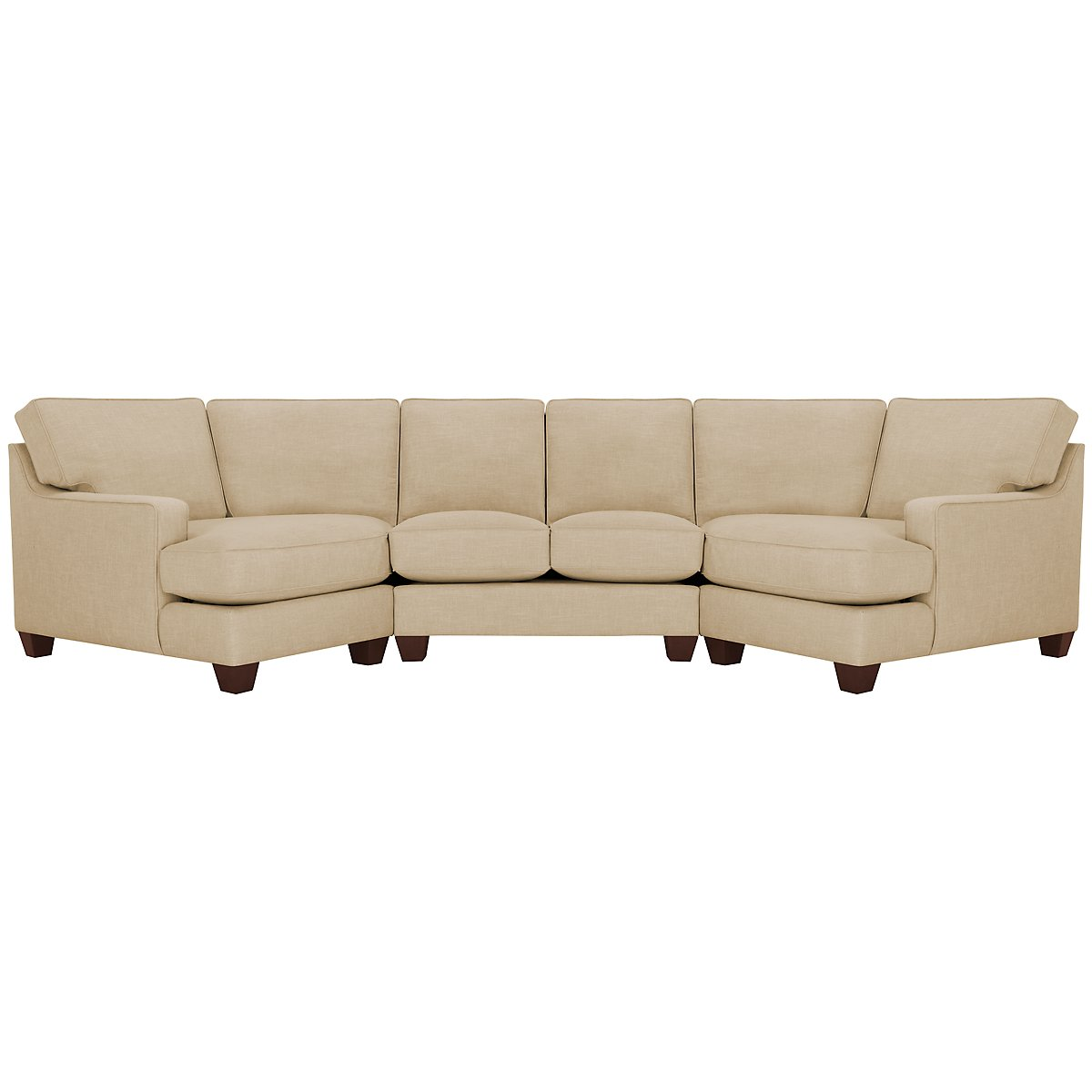 York Beige Fabric Dual Cuddler Sectional