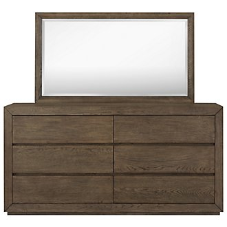 Rylan Light Tone Dresser & Mirror