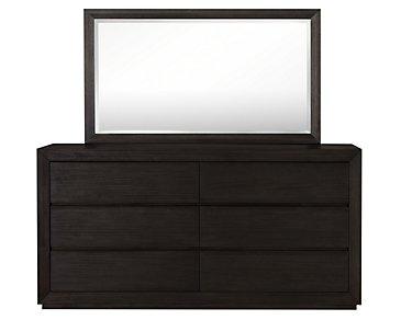 Rylan Dark Tone Dresser & Mirror