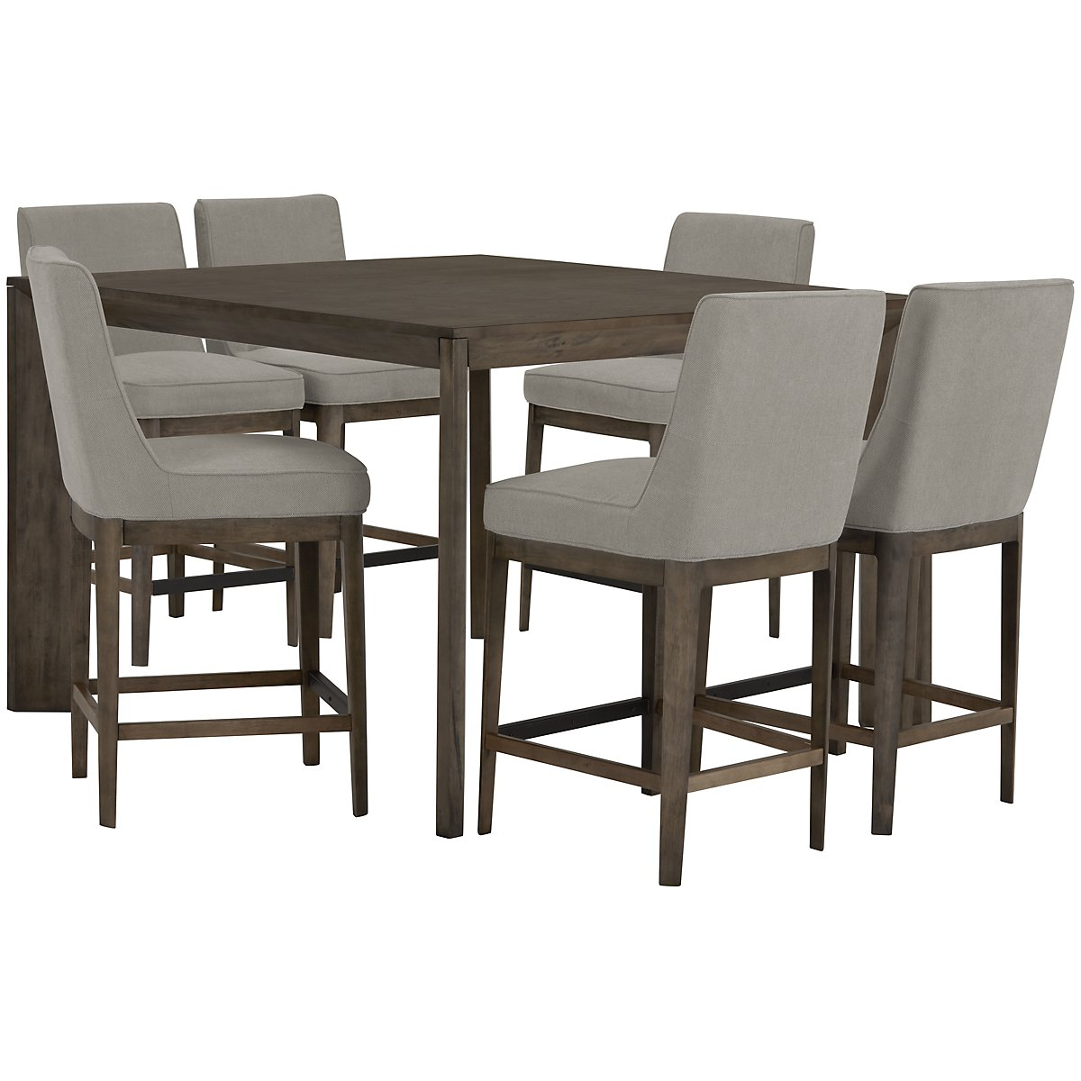 City furniture rylan gray high dining table High dining table
