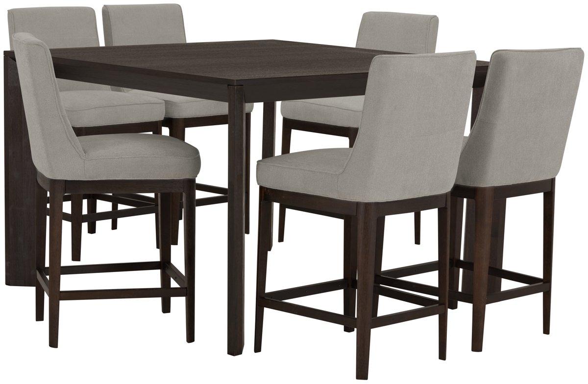 City Furniture Rylan Dark Tone High Dining Table
