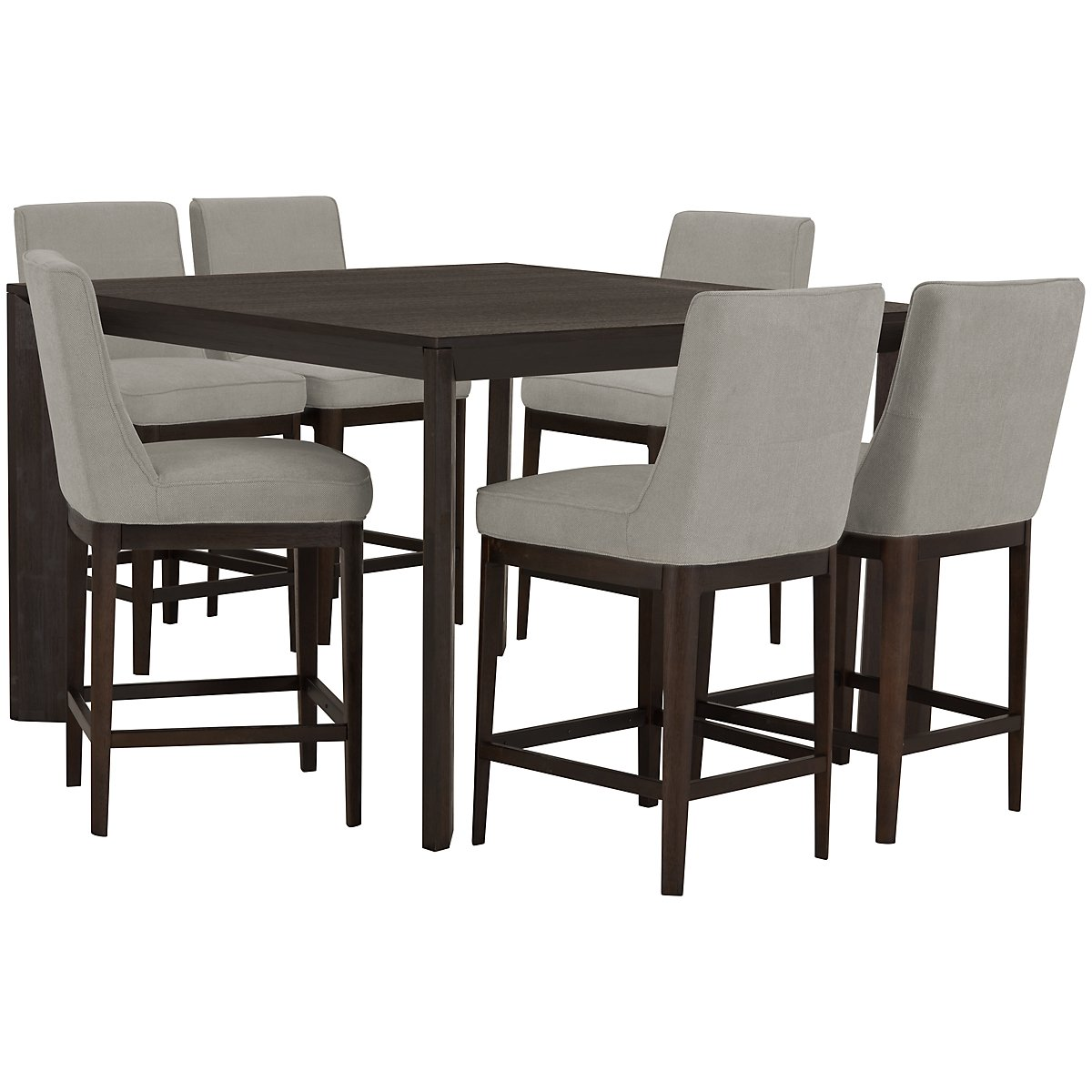 City furniture rylan dark tone high dining table for Html table th always on top