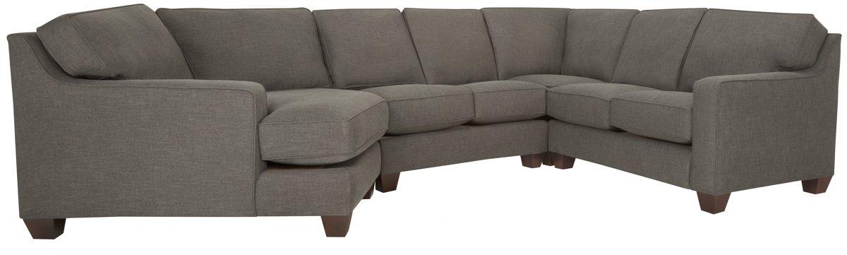 City Furniture: York Dk Gray Fabric Small Left Cuddler ...