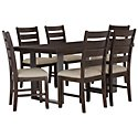 Sawyer Dark Tone Wood Table & 4 Wood Chairs