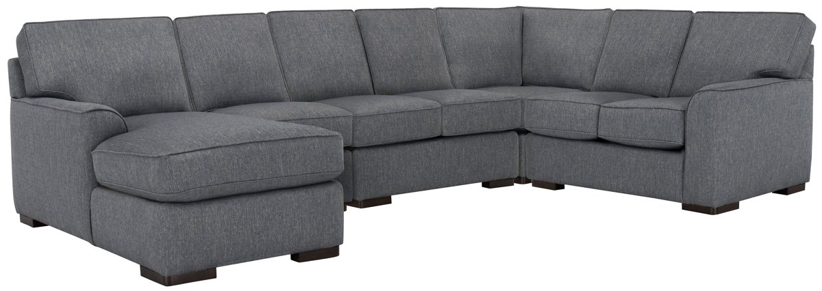 Austin Blue Fabric Large Left Chaise Sectional