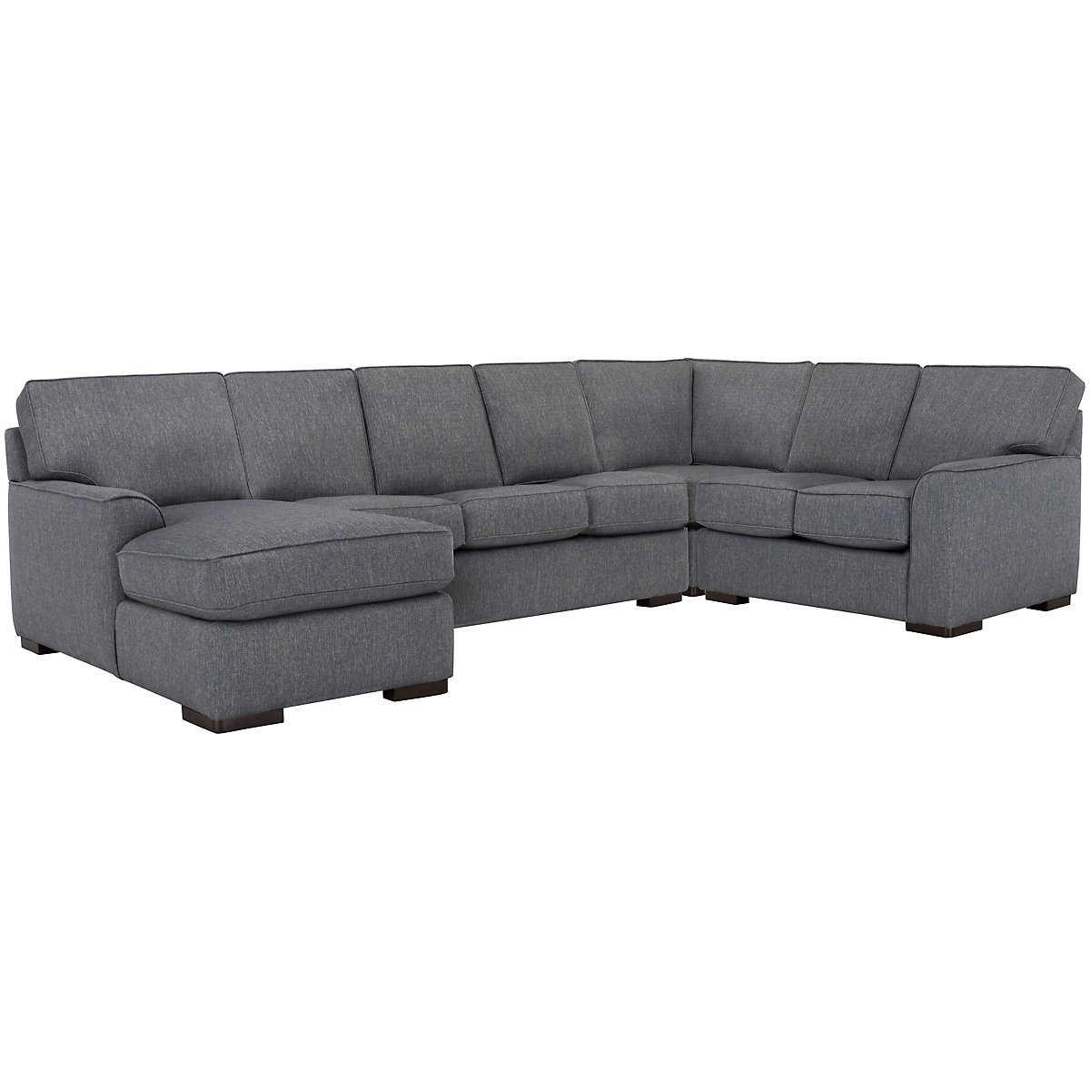 Austin Blue Fabric Left Chaise Innerspring Sleeper Sectional