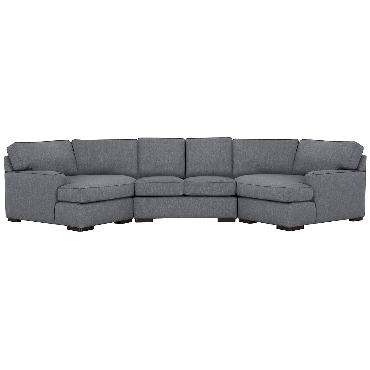 Austin Blue Fabric Dual Cuddler Sectional