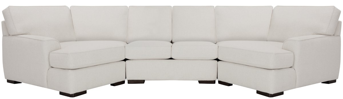 Austin White Fabric Dual Cuddler Sectional