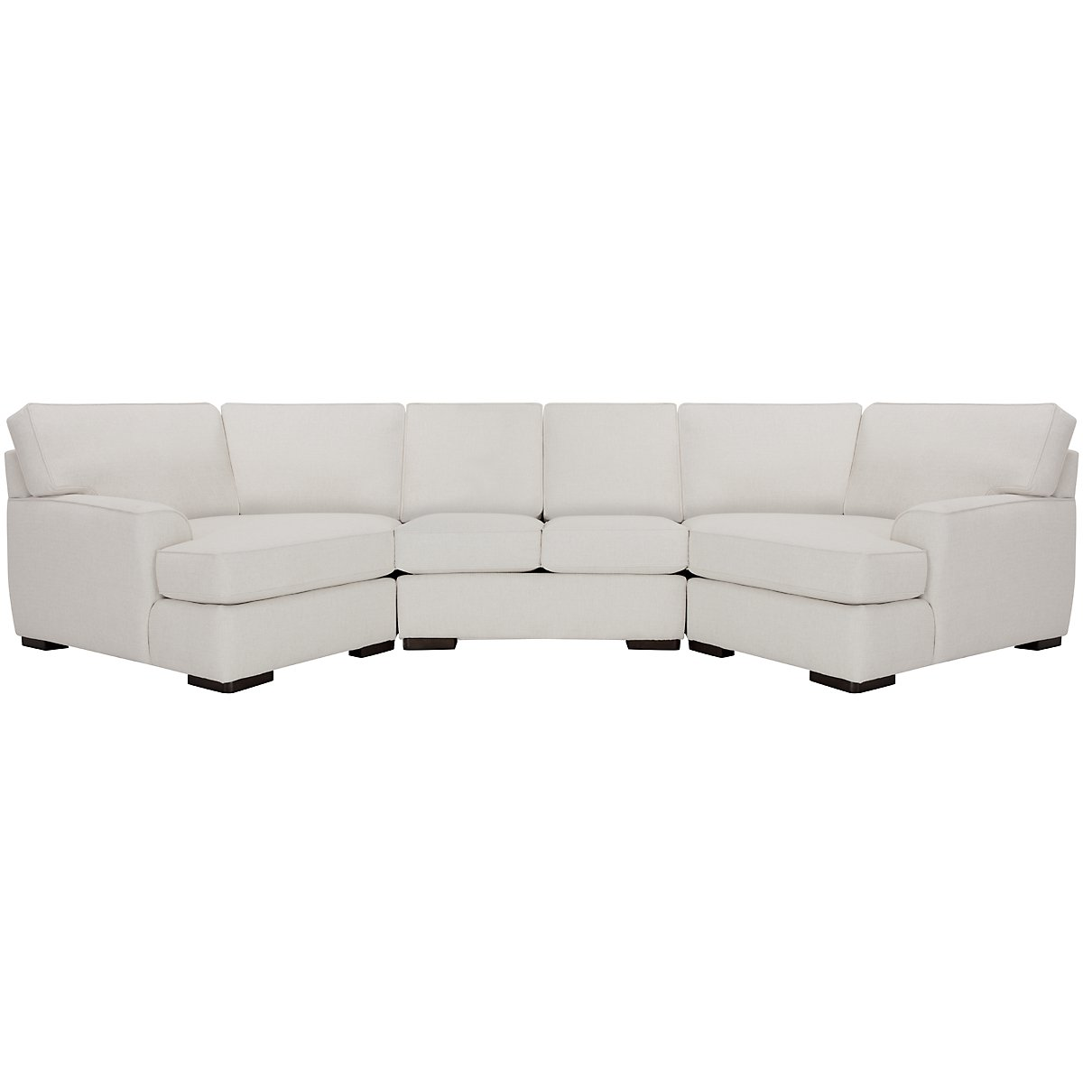 Austin White Fabric Dual Cuddler Sectional