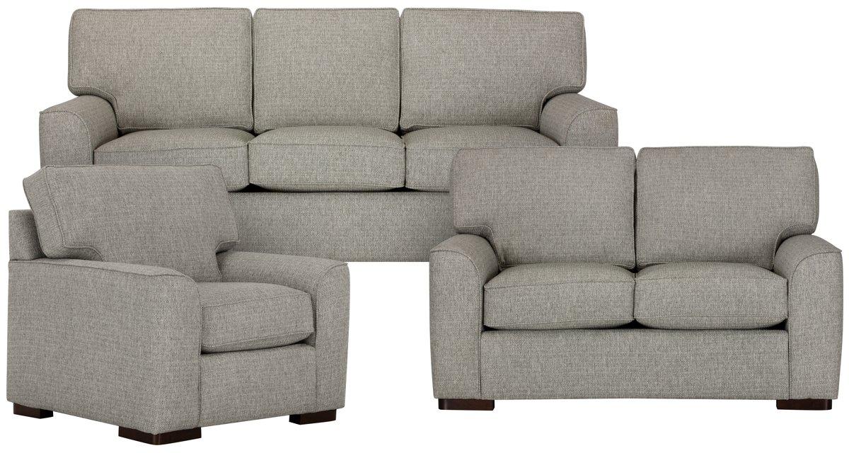 Austin Gray Fabric Living Room