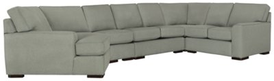 Austin Green Fabric Large Left Cuddler Sectional  sc 1 st  City Furniture : left cuddler sectional - Sectionals, Sofas & Couches