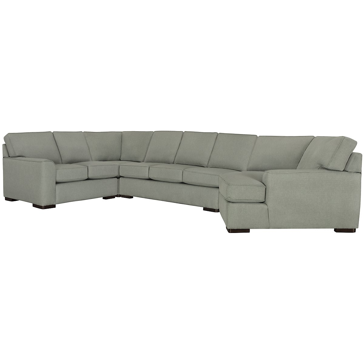 Austin Green Fabric Right Cuddler Innerspring Sleeper Sectional