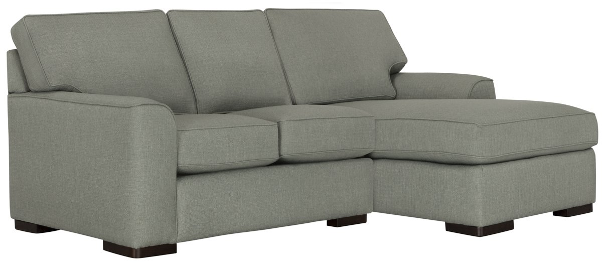 Austin Green Fabric Right Chaise Sectional