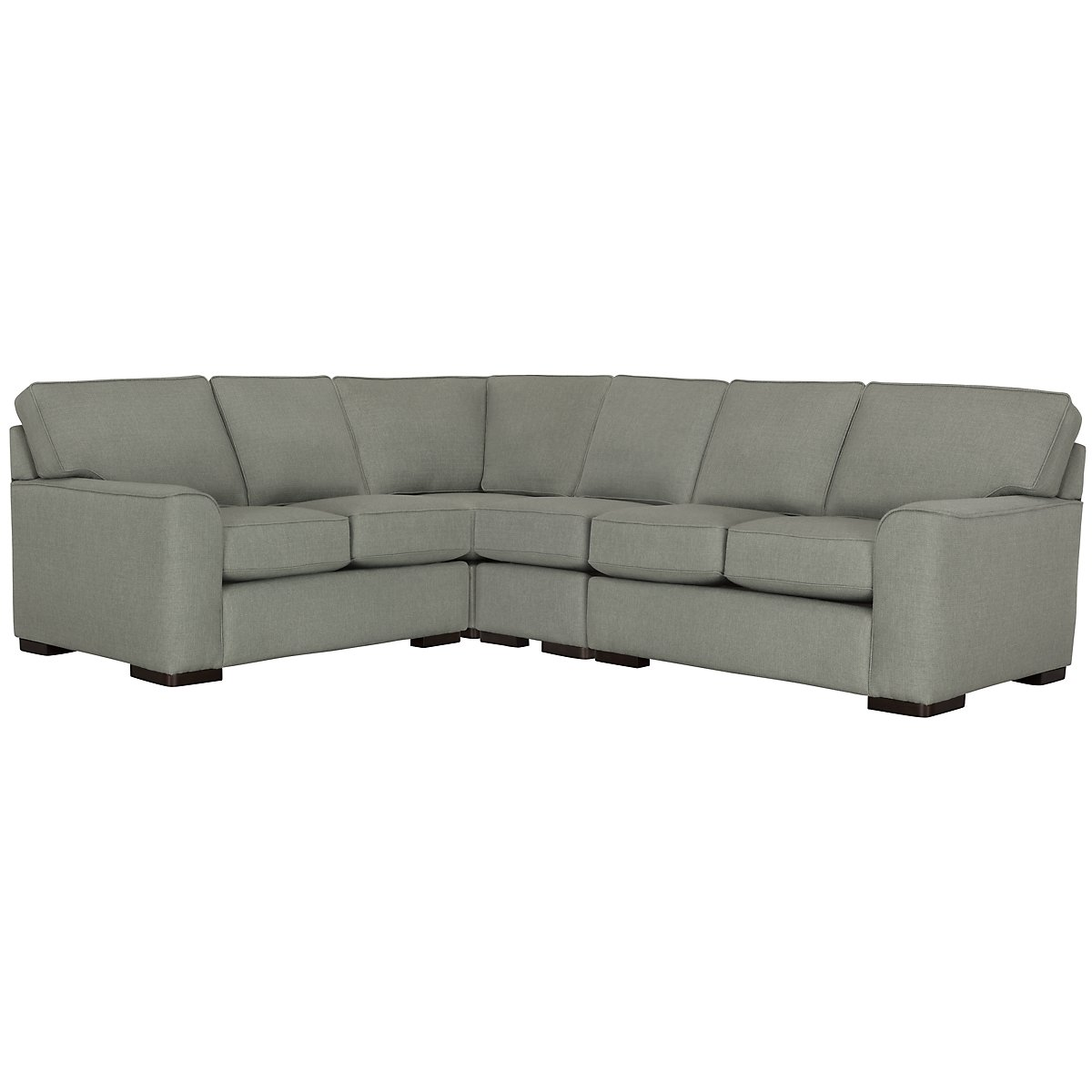 Austin Green Fabric Large Two-Arm Sectional